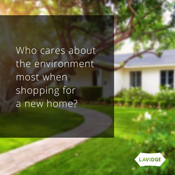Who cares about the environment most when shopping for a new home?