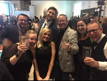 LAVIDGE employees celebrate awards at the 2018 ADDYs.