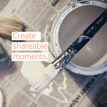 Create shareable moments to encourage home buyers to post about your community.