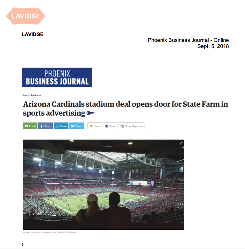 PBJ: Arizona Cardinals stadium deal opens door for State Farm in sports advertising