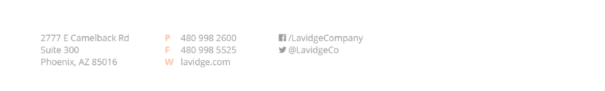 LAVIDGE contact info