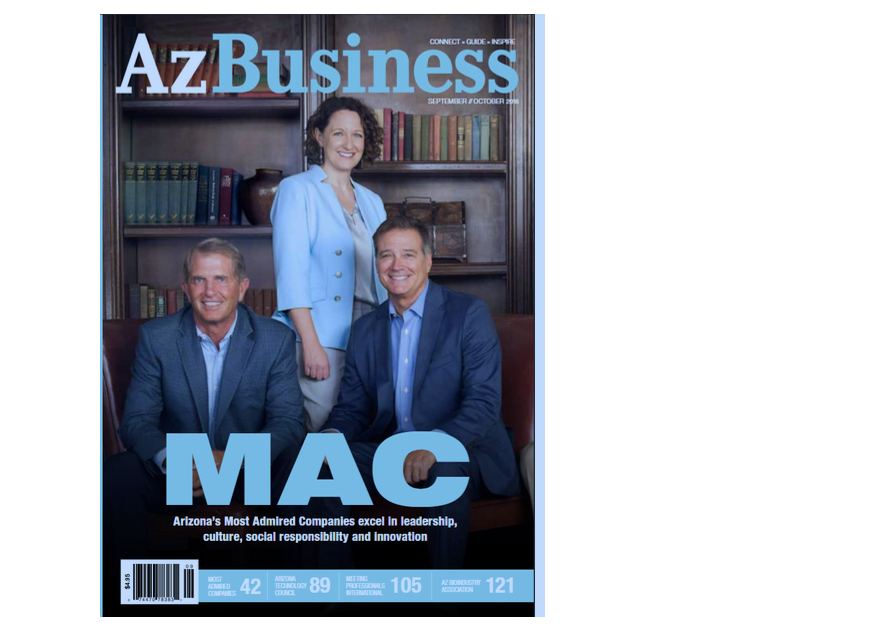 Bill Lavidge makes the cover of AZ Business Magazine