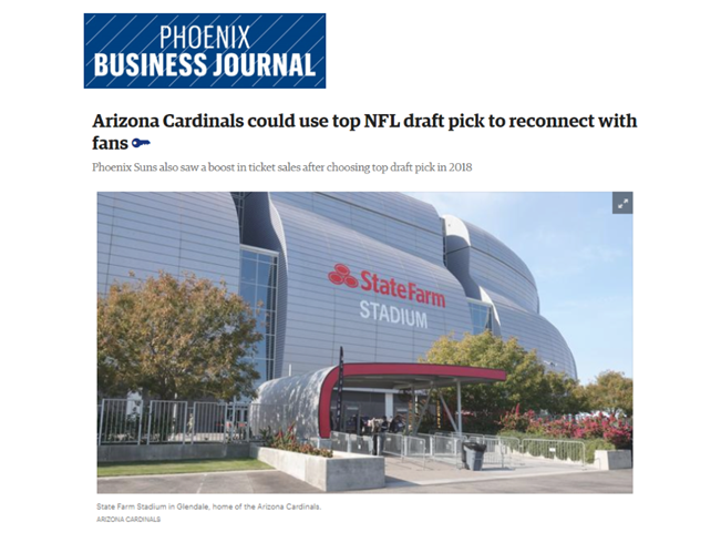 Dave Nobs, sports industry marketing expert, speaks to the Phoenix Business Journal.